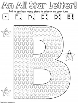 Alphabet All Star Printable Games - Letter of the Week, Intervention, RTI, TK