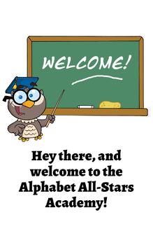 Alphabet All-Stars: Funny Flashcards