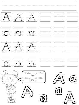 Alphabet All-Stars Handwriting Practice for Kindergarten