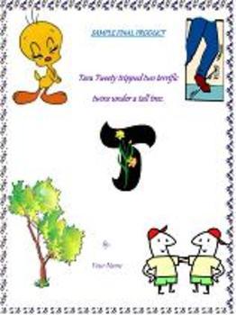 Alphabet Alliteration Lesson plan and Activity