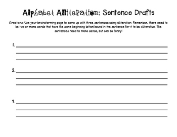 Alphabet Alliteration activity
