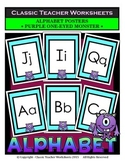 Alphabet - Alphabet Posters - Purple One-Eyed Monster Clip Art