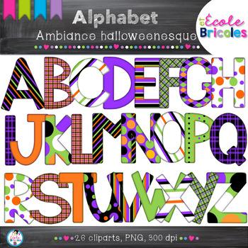 Alphabet Docudéco Ambiance halloweenesque/Halloween alphabet