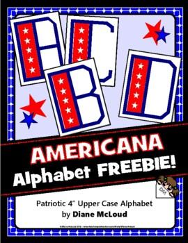 "Alphabet Americana - Patriotic 4"" Alphabet FREEBIE!"