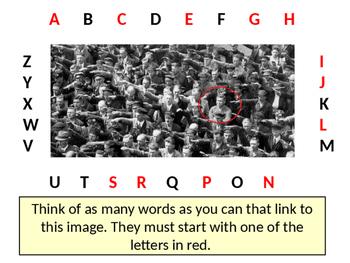 Alphabet Analyser - Nazi Salute Lesson Starter