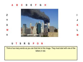 Alphabet Analyser - September 11 Lesson Starter