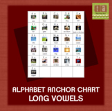 Alphabet Anchor Chart For Writing Folder - with REAL Images & Long Vowel Sounds