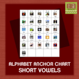 Alphabet Anchor Chart For Writing Folder - with REAL Images & Short Vowel Sounds
