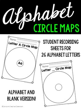 Alphabet Anchor Chart, Picture Cards, and Recording Sheets: Circle Maps