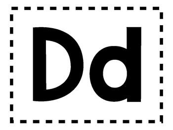 Alphabet Anchor Chart Pieces - Letter D - Color