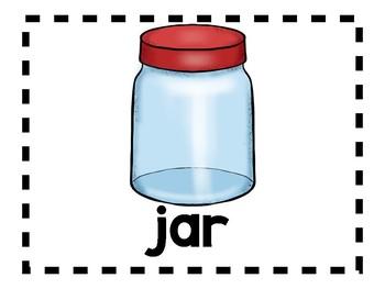 Alphabet Anchor Chart Pieces - Letter J - Color