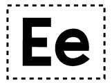 Alphabet Anchor Chart Pieces - Letter E - Blackline