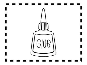 Alphabet Anchor Chart Pieces - Letter G - Blackline