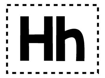 Alphabet Anchor Chart Pieces - Letter H - Blackline