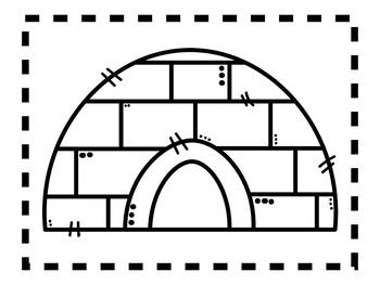 Alphabet Anchor Chart Pieces - Letter I - Blackline