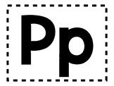 Alphabet Anchor Chart Pieces - Letter P - Blackline