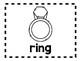 Alphabet Anchor Chart Pieces - Letter R - Blackline