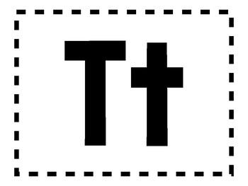 Alphabet Anchor Chart Pieces - Letter T - Color