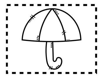 Alphabet Anchor Chart Pieces - Letter U - Blackline