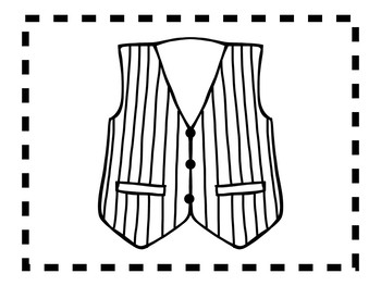 Alphabet Anchor Chart Pieces - Letter V - Blackline