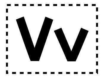 Alphabet Anchor Chart Pieces - Letter V - Color