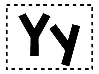 Alphabet Anchor Chart Pieces - Letter Y - Color