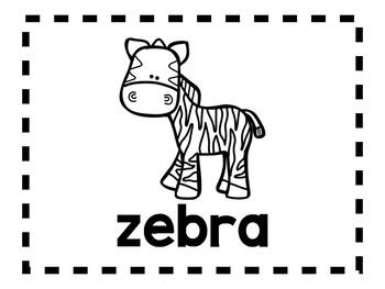 Alphabet Anchor Chart Pieces - Letter Z - Blackline