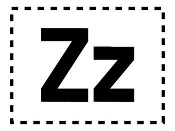 Alphabet Anchor Chart Pieces - Letter Z - Color