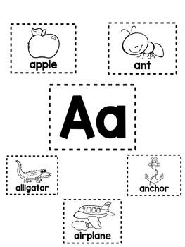 Alphabet Mini-Anchor Chart - Letter A - Blackline