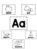 Alphabet Mini-Anchor Chart - Letter A - Blackline