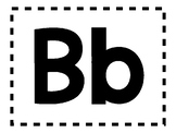 Alphabet Anchor Chart Printable Pieces - Letter B - Blackline