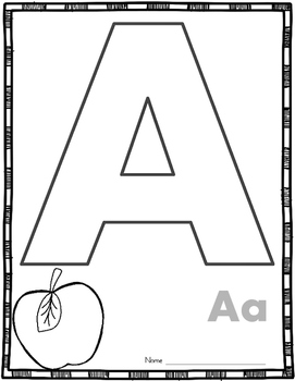 Alphabet Anchor Chart Write-Ons (26 Upper and 26 Lowercase Letters)