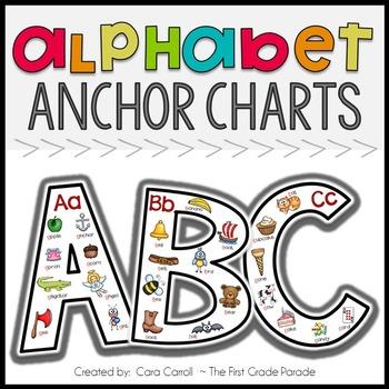 Alphabet Anchor Charts By Cara Carroll  Teachers Pay Teachers