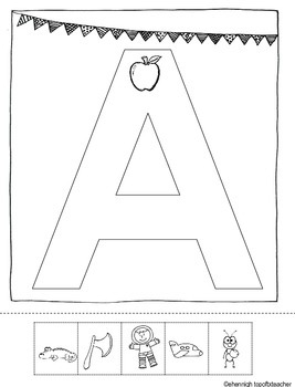 Alphabet Anchor Student Charts-Cut and Paste