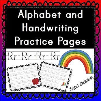 Alphabet And Handwriting Practice Pages - Complete Unit
