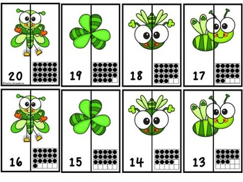 Alphabet And Number Matching Puzzles St. Patrick's Day