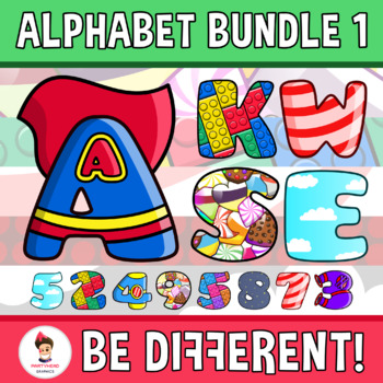 Alphabet And Numbers Clipart (Bundle 1)