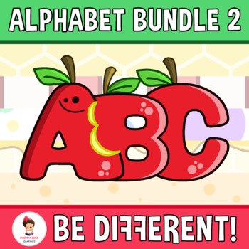 Alphabet And Numbers Clipart (Bundle 2)