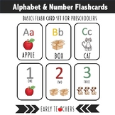 Alphabet And Numbers FlashCard Bundle - Ready to Print!