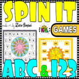 Alphabet And Numbers Spin And Cover Game Pack