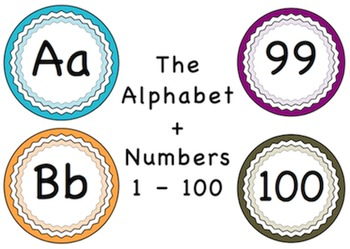 Alphabet And Numbers Word Chart Printable