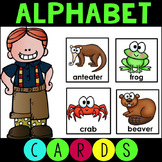 Alphabet Animal ABC Cards Matching Game
