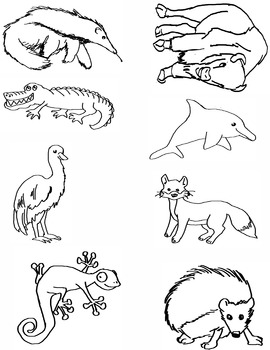 Alphabet Animal Clip Art A-H