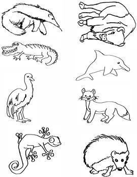 Alphabet Animal Clip Art A-H
