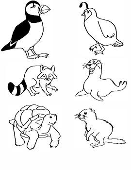 Alphabet Animal Clip Art P-U