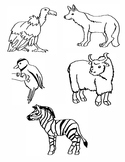 Alphabet Animal Clip Art V-Z