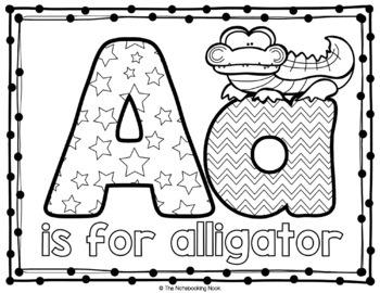 Alphabet Animal Coloring Mats