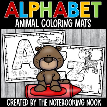 Alphabet Animal Coloring Mats
