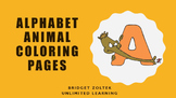 Alphabet Animal Coloring Pages