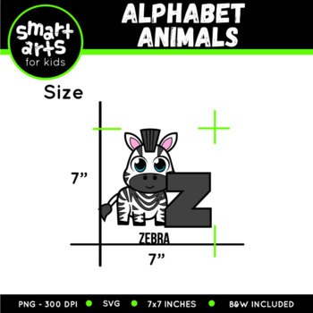 Complete Alphabet Animals Digital Clip Art